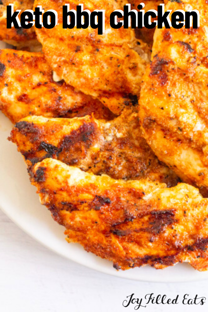 pinterest image for keto barbecue chicken