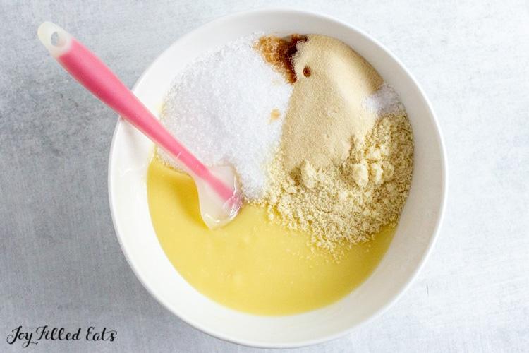 batter ingredients in mixing bowl