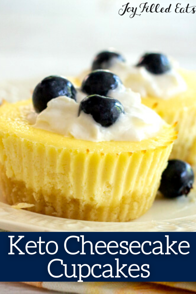 pinterest image for keto cheesecake cupcakes