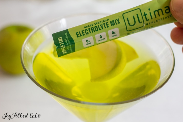packet of appletini mix from ultima replenishers