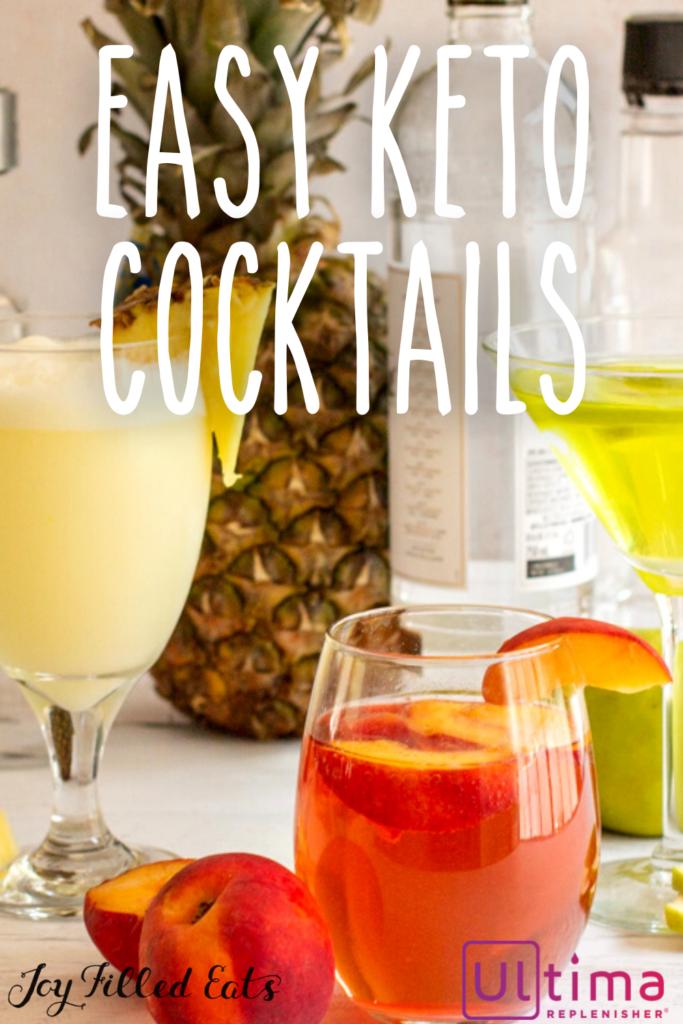 pinterest image for keto cocktails