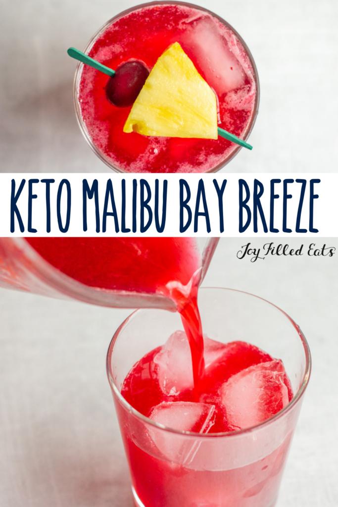 pinterest image for keto malibu bay breeze