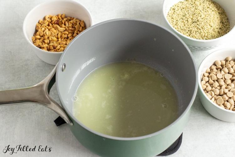 saucepan of syrup