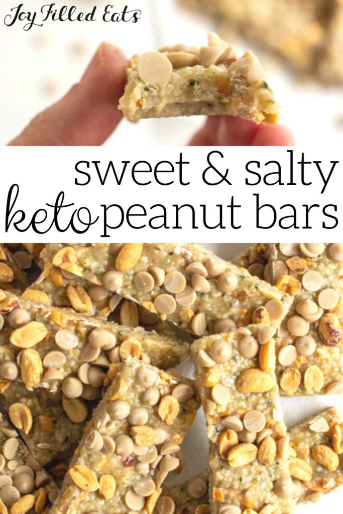 pinterest image for sweet & salty peanut bars