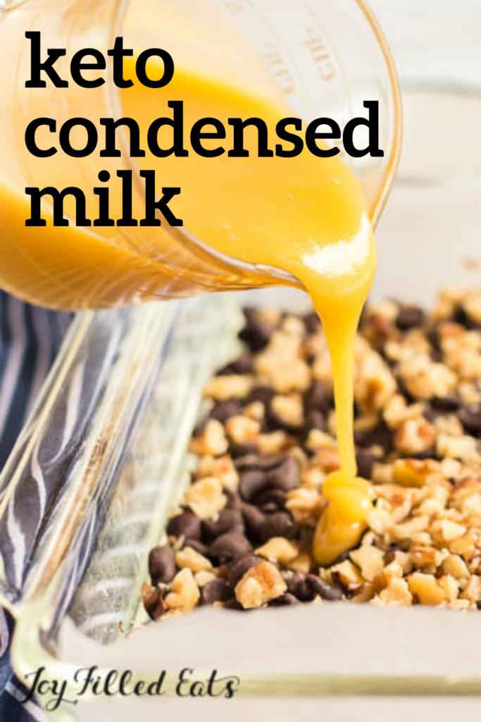 pinterest image for keto condensed milk