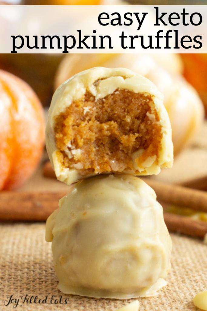 pinterest image for pumpkin truffles