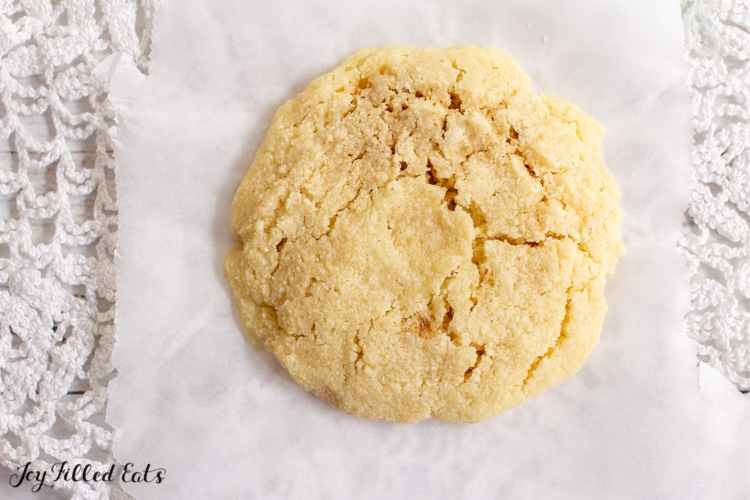 microwave sugar cookie on parchment