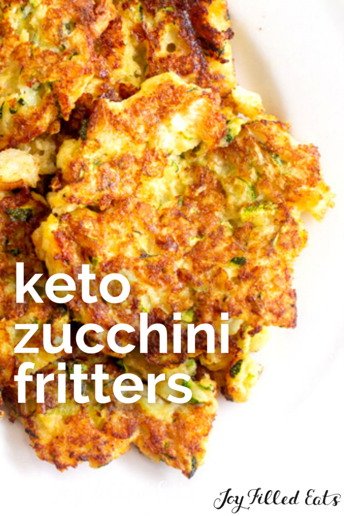 pinterest image for keto zucchini fritters