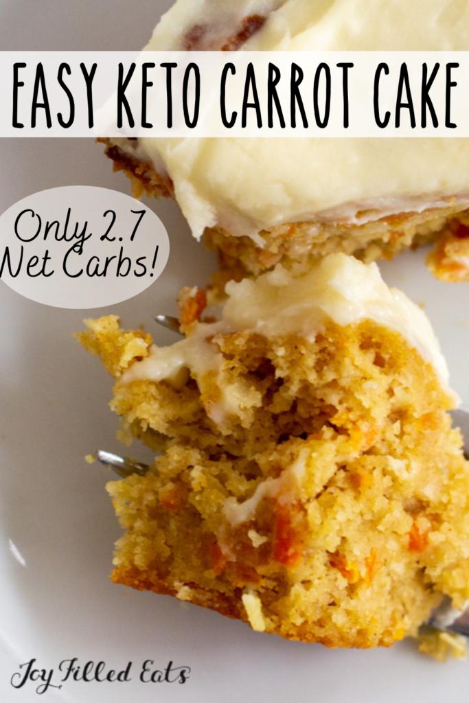 pinterest image for almond flour carrot cake