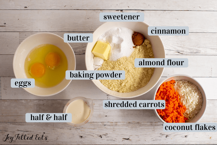 ingredients for the batter in a bowl