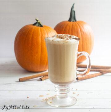 glass of keto pumpkin spice latte