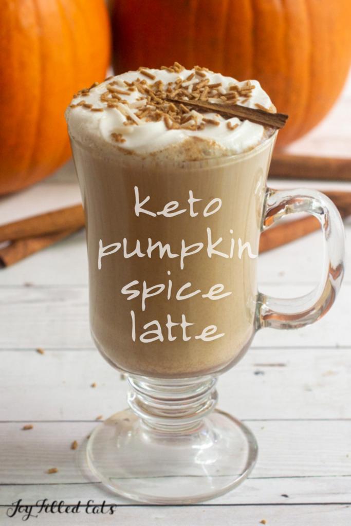 pinterest image for Keto Pumpkin Spice Latte