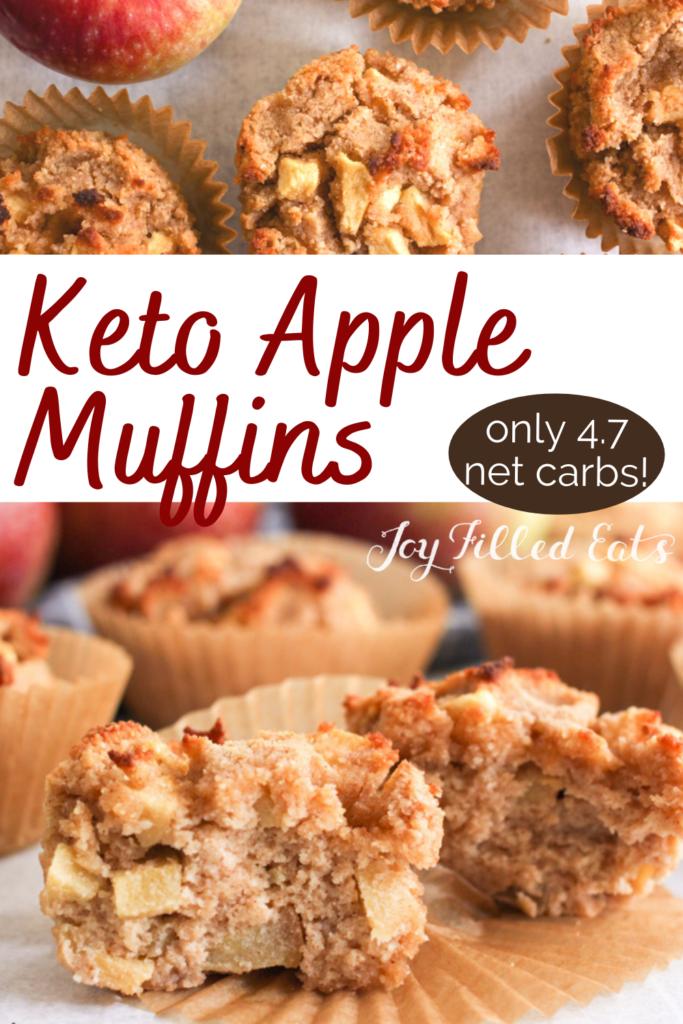 pinterest image for Keto apple muffins