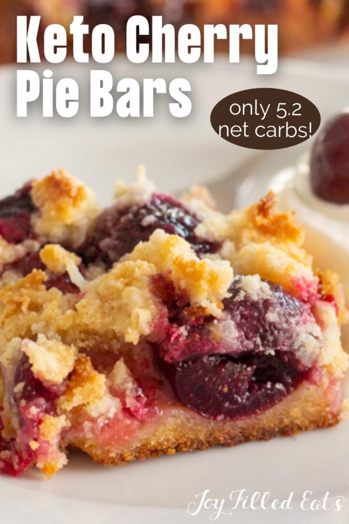 pinterest image for keto cherry pie bars