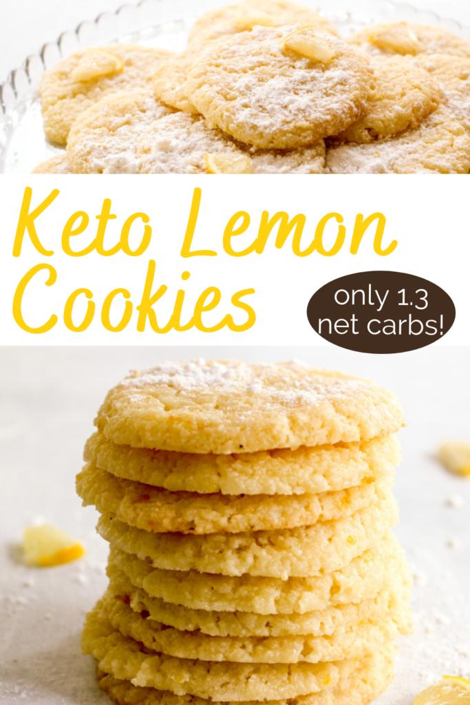 pinterest image for keto lemon cookies