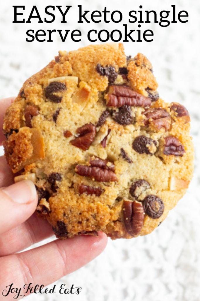 pinterest image for single serve cookie