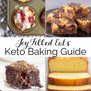 collage of keto baking recipes