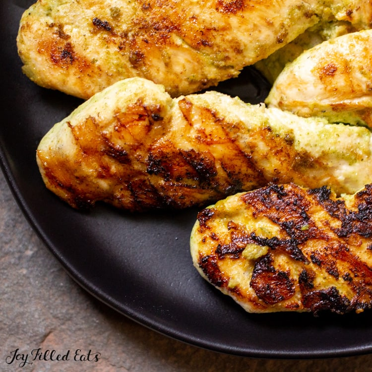 close up of chicken grilled with mexican chicken marinade